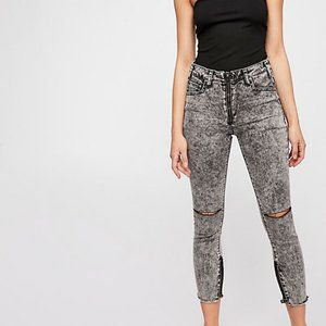 Free People High Waist Freebird Skinny Jeans 0 24